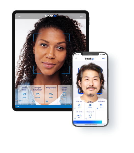 Binah.ai app for iPhone and Tablet